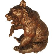 Black Forest Sitting Bear Figure