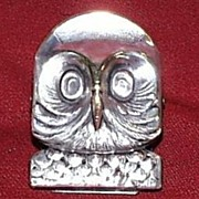 Silver Plated Owl Paper Clip