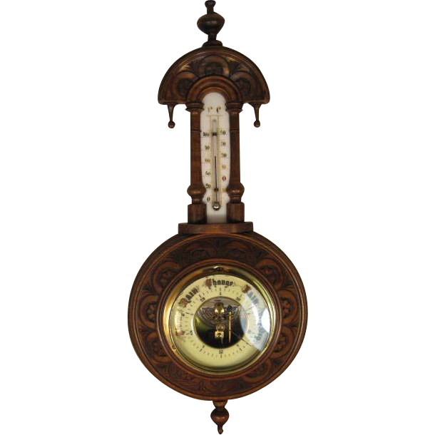 English Mahogany Pendant Barometer