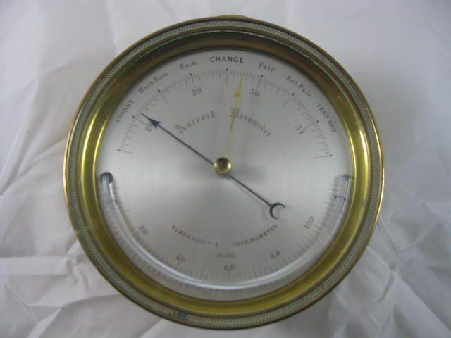 Brass Marine Aneroid Barometer