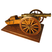 Hand Made Napoleonic Field Gun c1815 Model on Plinth
