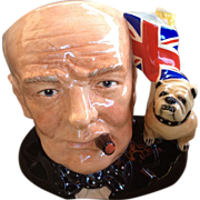 Royal Doulton Winston Churchill Character Jug-Limited Edition