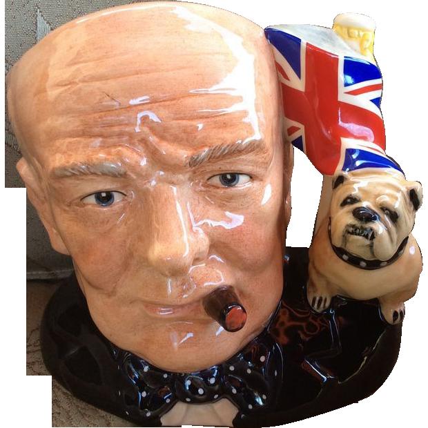 Royal Doulton Winston Churchill Character Jug-Limited Edition