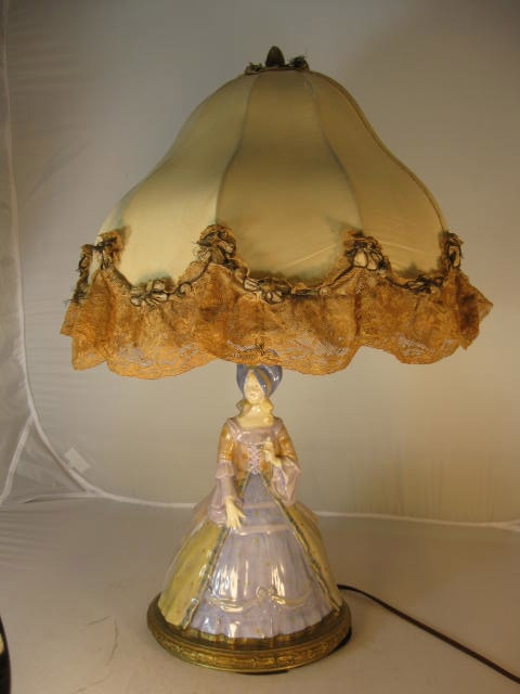 Royal Doulton Lamp - A Lady of the Georgian Period - HN41