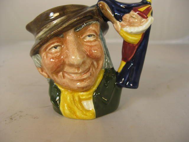 Royal Doulton Miniature Toby Jug - Punch and Judy Man - D6596
