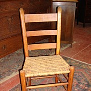 American Antique Chair Antique Rush Seat Chair Antique Furniture
