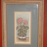 Original Signed Print by Grace Feyock Framed and Matted