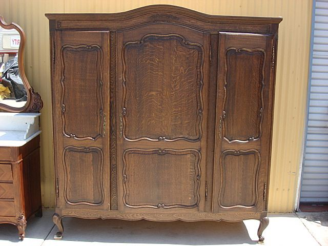 armoire furniture antique. french antique armoire wardrobe closet cabinet bedroom furniture 0