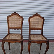 Pair of French Antique Louis XV Carved Chairs Antique Furniture
