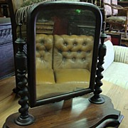 Victorian Antique Shaving Mirror Dresser Mirror
