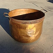 Large Antique Copper Pot Antique Cauldron Chocolate Pot