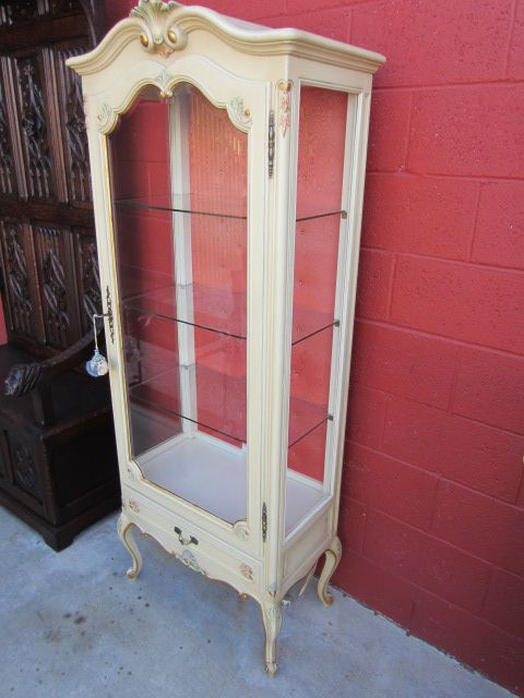 French Antique China Cabinet Antique Display Cabinet Curio Cabinet ...