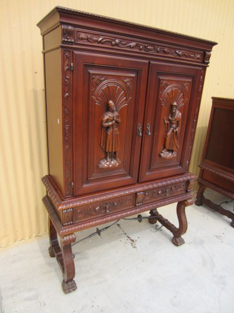Roll over Large image to magnify, click Large image to zoom - Spanish Antique Bar Cabinet Server Antique China Cabinet Antique
