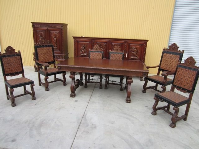 spanish antique dining set table sideboard server bar dining chairs spanish antique  dining set. - Full Image For Antique Dining Room Table Chairs 73 Beautiful