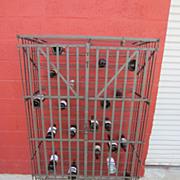 French Antique Wine Bottle Holder Champagne Bottle Holder Cage