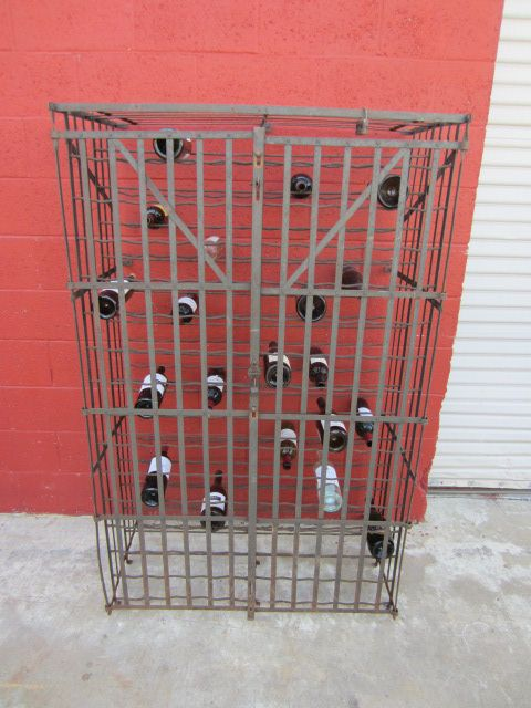 French Antique Wine Bottle Holder Champagne Bottle Holder Cage