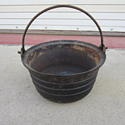 French Antique Pot French Antique Cast Iron Pot