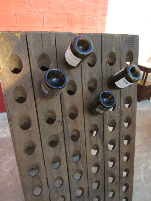 French Champagne Bottle Holder Antique Architectural Element