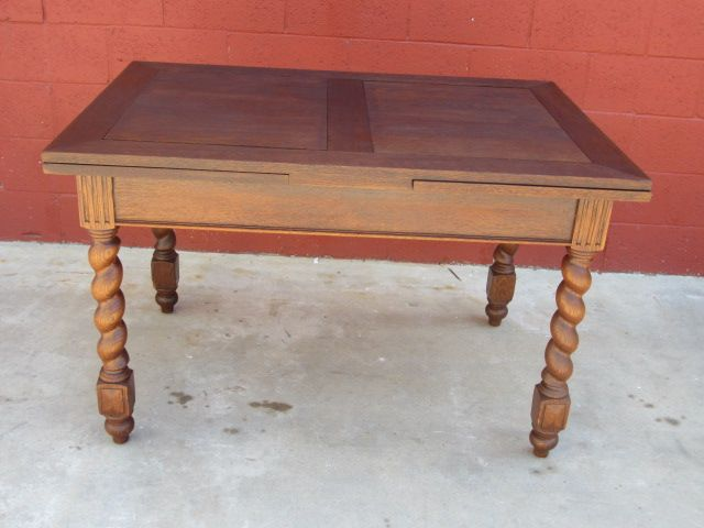 French Antique Table Barley Twist Draw Leaf Table Antique Furniture
