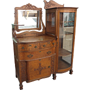 Antique Server Antique Sideboard Antique China Cabinet Antique Display Case Antique Furniture