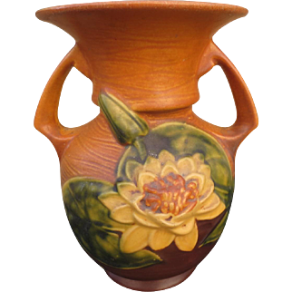 Roseville Pottery Water Lily 79-9 Antique Roseville Vase Roseville Pottery