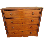 Primitive American Antique Dresser, American Antique Chest of Drawers , American Antique Storage ,American Antique Furniture