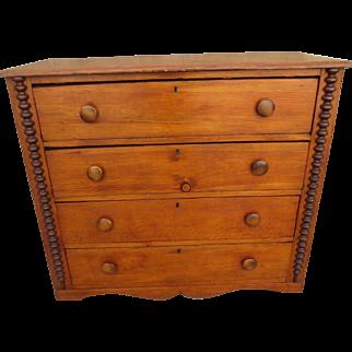 Primitive American Antique Dresser, American Antique Chest of Drawers , American Antique Storage ,American Antique Furniture