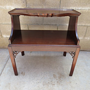 Carved American Walnut Side Table Lamp Stand Coffee Table