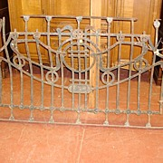 French Antique Hand Forged Iron Banister Balcony Gate