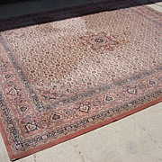 Antique Wool Oriental Carpet Persian Rug