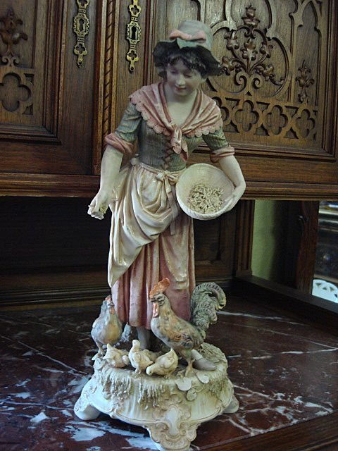 Original Large Royal Dux Bohemia Porcelain Figurine Porcelain Statue