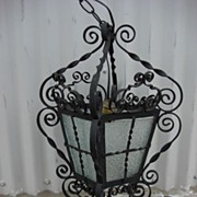 French Antique Rustic Iron Chandelier Antique Hanging Lamp