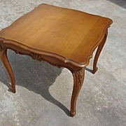 Vintage French Louis XV walnut Coffee Table Side Table Lamp Table