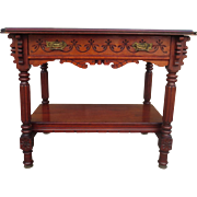 American Antique Victorian Eastlake Table Antique Victorian Desk Antique Side Table Work Table Antique Furniture
