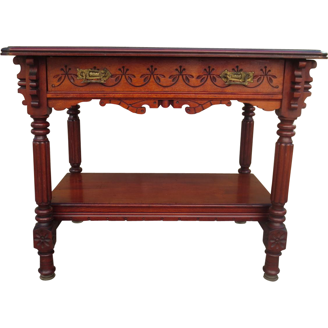 Victorian furniture table - American Antique Victorian Eastlake Table Antique Victorian Desk Antique Side Table Work Table Antique Furniture
