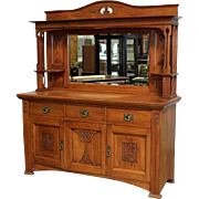 Antique Arts and Crafts Sideboard Antique Server Antique Craftsman Buffet Antique Furniture
