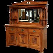 Antique Arts and Crafts Sideboard Antique Server Antique Craftsman Buffet Antique Furniture