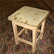 Antique Primitive Pine Country Stool Milking Stool Chair