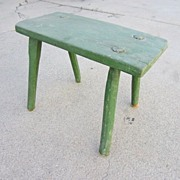French Antique Primitive Milking Stool Antique Foot Stool Bench Antique Furniture