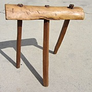 Antique Furniture Antique Milking Stool Antique Foot Stool Bench