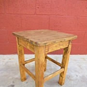 Antique Furniture Primitive Antique Bench Antique farm Stool