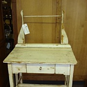 Beautiful Antique Primitive Pine Washstand Table