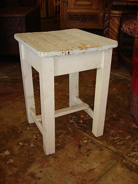 Antique Primitive Pine Country Stool Bench Chair