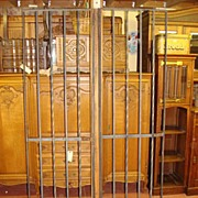 Pair of Hand Forged Wrought Iron American Hinged Doors