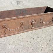 French Antique Cast Iron Planter Antique Architectural Yard Art