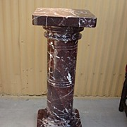 French Antique Marble Pedestal Antique Marble Stand French Antiques