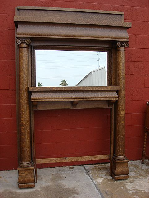 Title: American Victorian Fireplace Mantel Fireplace Surround Architectural Antiques
