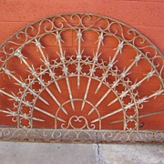 French Antique Hand Forged Iron Gate Arch French Architectural Elements