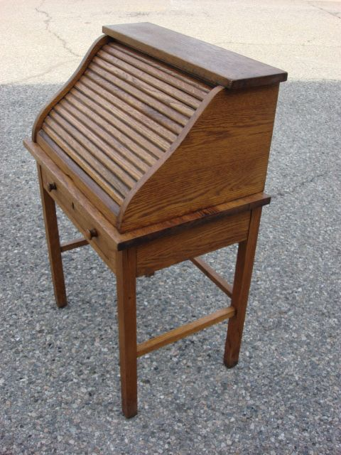 Roll over Large image to magnify, click Large image to zoom - American Antique S Top Child's Roll Top Desk SOLD On Ruby Lane