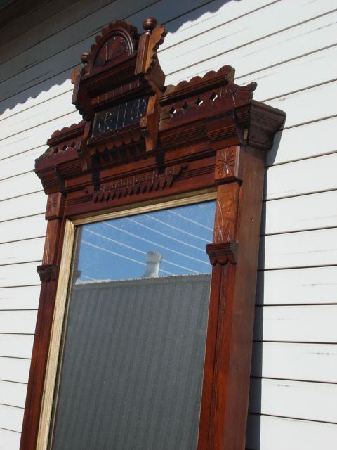 American Antique Victorian Eastlake Pier Mirror Antique Hall ...